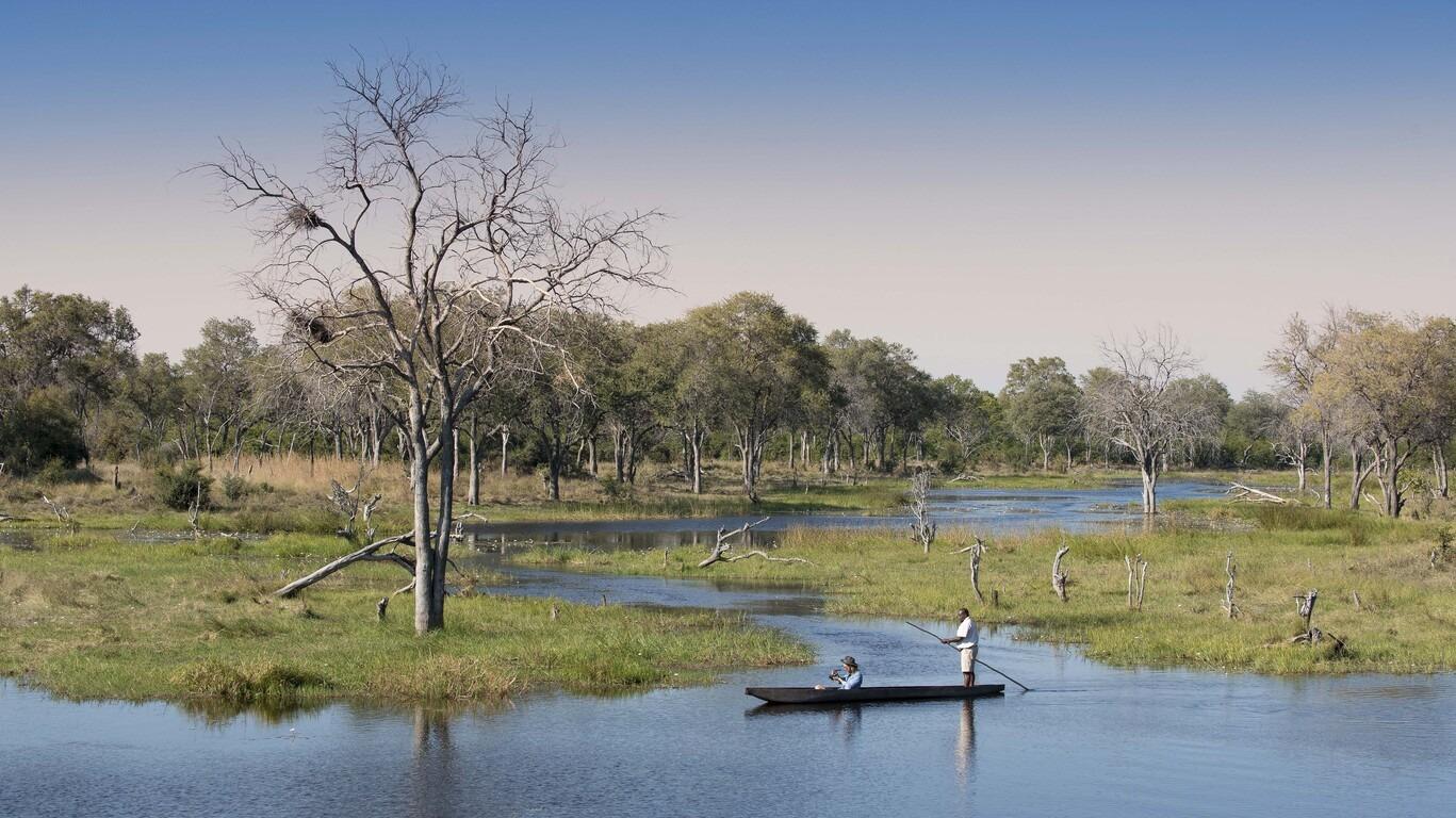 Safari au Botswana en camp de brousse Grand Confort avec guide francophone