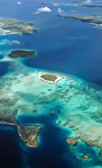 330 îles parsemées à travers le Sud de l'océan pacifique
