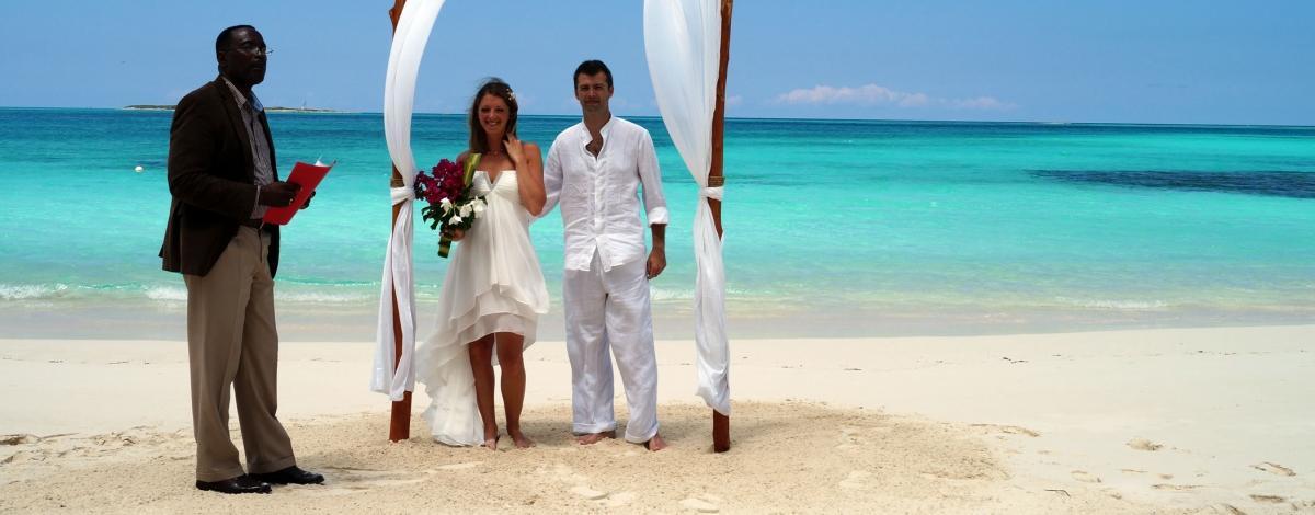 Mariage aux Bahamas : Cérémonie et Lune de miel au Paradise Bay, Exumas