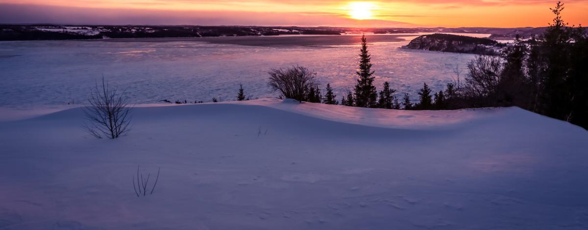 Le Fjord du Saguenay en hiver : La pourvoirie du Cap au Leste