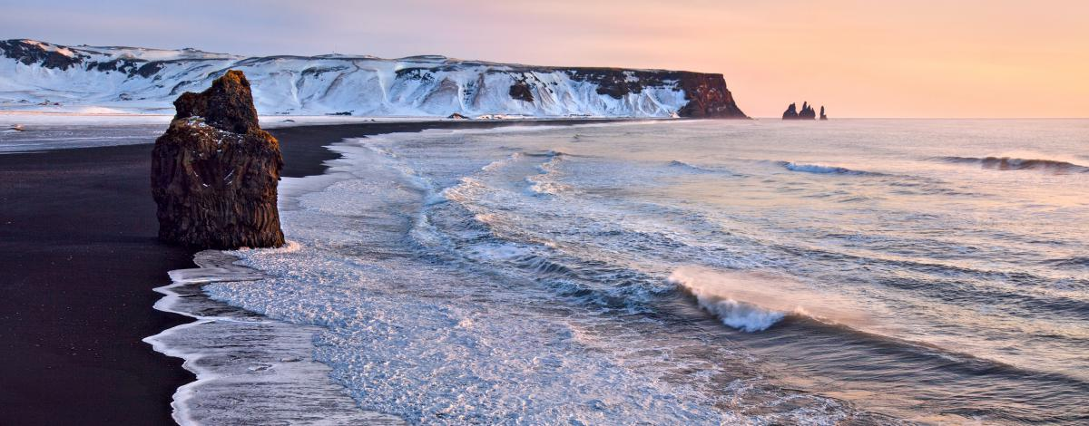 Magie de la nature islandaise en hiver