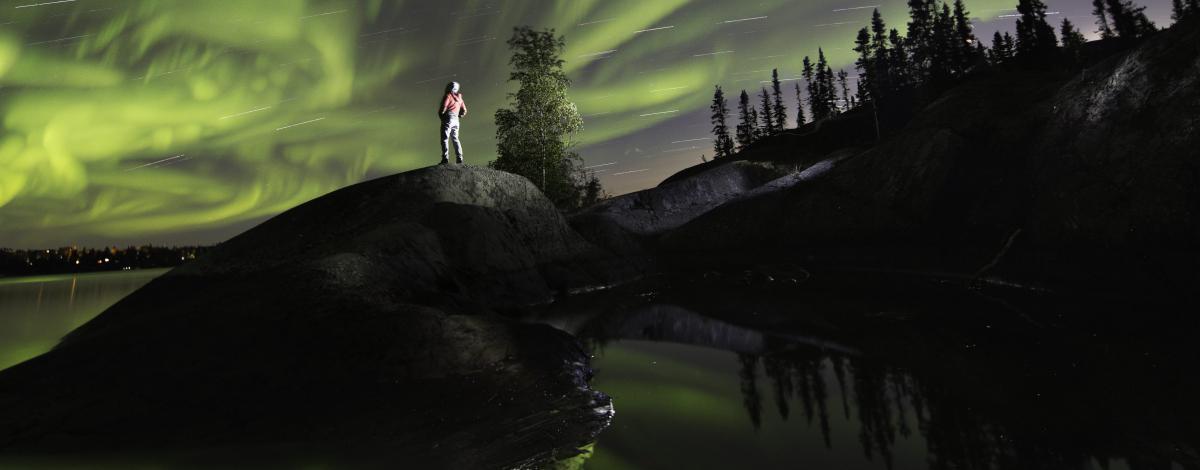 Sous les aurores boréales du Grand Nord